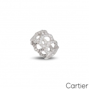 Cartier White Gold Dimaond C de Cartier Ring